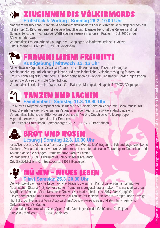 Internationaler Frauentag 2017 Göppinger